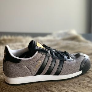 Adidas Women's Samoa in Gray w/ Black/Gold Accent